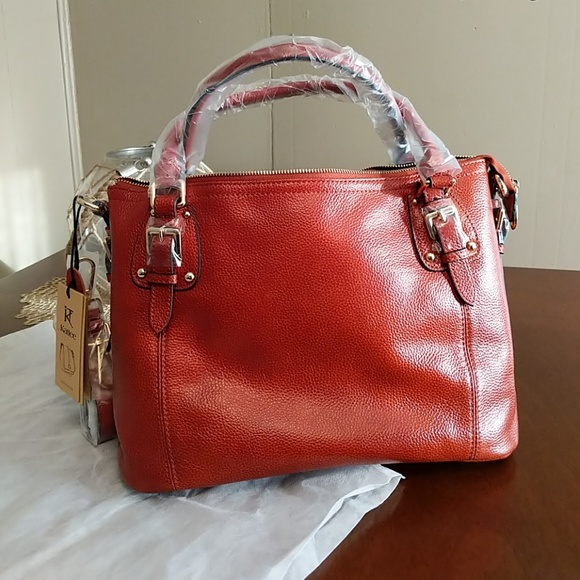 really comfortable highly coveted range of exquisite style Kattee Leather Bag NWT